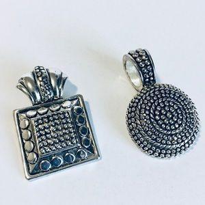 Silver Necklace Pendants Set